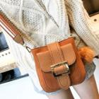 Buckled Wide-strap Cross Bag