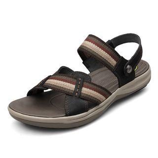 Striped Woven Strap Sandals