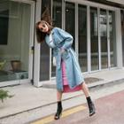 Denim Trench Coat With Belt