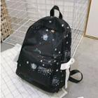 Galaxy Print Lightweight Backpack Black - One Size