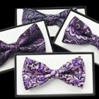 Printed Bow Tie / Set: Bow Tie + Boutonni Re