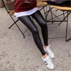 Coated Leggings Black - One Size