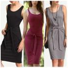Tie-waist Tank Dress