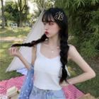 Knit Striped Sleeveless Top