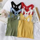 Cross Strap-back Sleeveless Knit Top