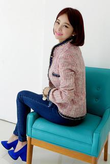 Fringe-trim Tweed Jacket