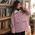 Fleece Collar Toggle Coat