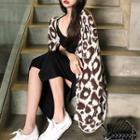 Leopard Print Oversized Cardigan