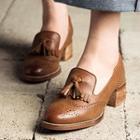 Heel Tassel Loafers
