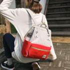 Couple Matching Striped Panel Backpack