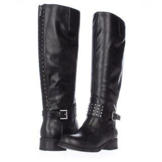 Studded Zip-back Long Boots