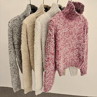 Melange Turtleneck Sweater