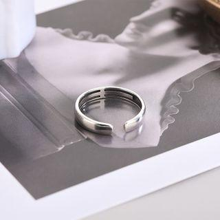 925 Sterling Silver Open Ring Rs522 - Silver - One Size