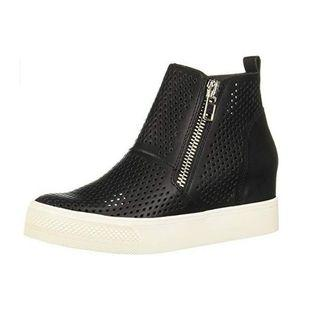 Perforated Side Zipper Platform Boots