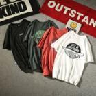 Skateboard Print Short Sleeve T-shirt