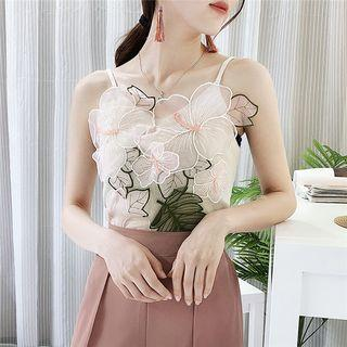 Flower Accent Knit Camisole