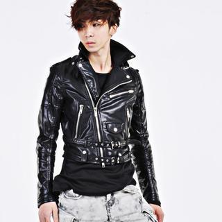 Faux-leather Diagonal-zip Rider Jacket