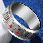 Stainless Steel Mahjong Ring