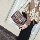 Tweed Chain Strap Shoulder Bag