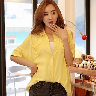 Cutout-sleeve Blouse