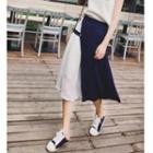 Paneled Midi Skirt