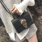 Embellished Buckle Shoulder Bag