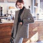 Set: Striped Blazer + A-line Midi Skirt