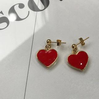 Heart Earrings Gold - One Size