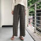Plaid Wide Leg Pants As Shown In Figure - One Size