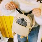 Dog Embroidered Crossbody Bag