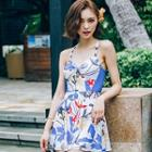 Patterned Swim Dress