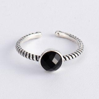 925 Sterling Silver Open Ring Silver - Ring - One Size