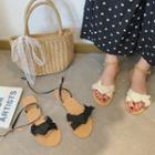 Bow Strap Open Toe Ankle Strap Sandals