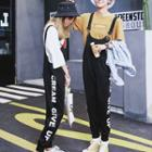 Couple Matching Lettering Jumper Pants