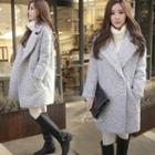 Single Snap-button Loose Coat
