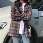 Long Sleeve Plaid Shirt Check - One Size