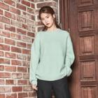 Seam-detail Loose-fit Knit Top