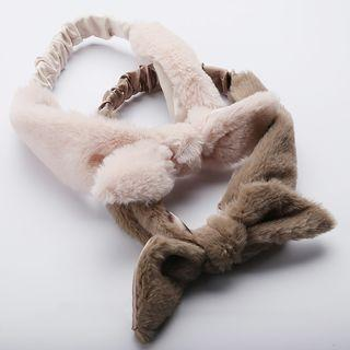 Furry Rabbit Ear Headband