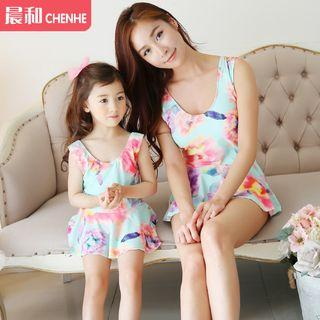 Floral Print Family Matching Swimdress