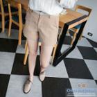 Lace Trim Waistband Shorts