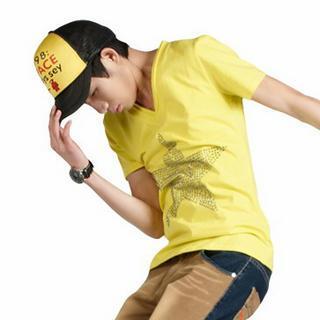 Short-sleeve Rhinestone Star T-shirt