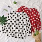 Square-neck Dotted Shirt