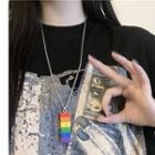Rainbow Building Block Pendant Necklace Necklace - Rainbow - One Size