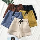 Drawcord Wool Shorts