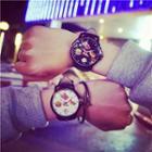 Burger-print Strap Watch