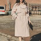 Caplet Trench Coat With Belt