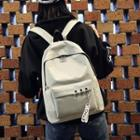 Ring-accent Canvas Backpack