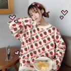 Strawberry Pattern Sweater / Knit Vest