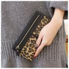 Leopard Print Zip Long Wallet