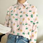 Coconut Tree Print Shirt